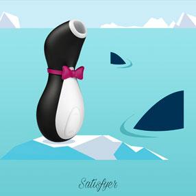 Сатисфаер Про Пингвин с акулами